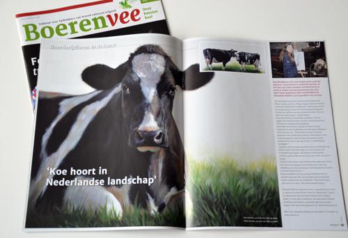 Redactioneel stuk over Klimas met 2 koeien schilderijen afgebeeld.